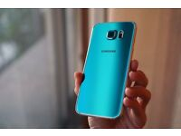 Galaxy s6 unlocked great condition 32 gb topaz blue