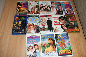Over 50 Original Disney VHS movies in Exc Cond Viewed Once each