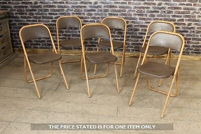 ENGLISH INDUSTRIAL FOLDING CHAIRS VINTAGE METAL CHAIRS