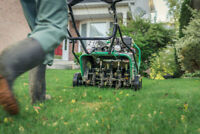 Lawn Aeration early booking bonus, group neighborhood discounts