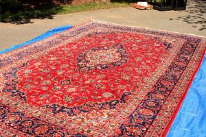 Handmade Vintage Persian Rug, 100% Wool