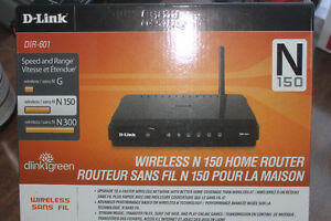 D LINK WIRELESS ROUTER ( NEVER USED )
