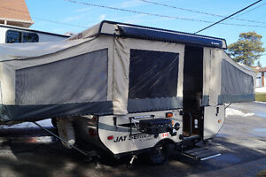 Rent our pop up tent trailer and camp in comfort