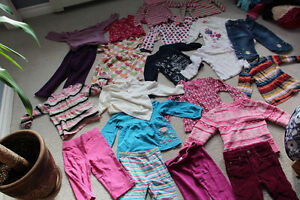 Lot of Size 3 Girls clothes 15 long sleeve tops and 6 pants