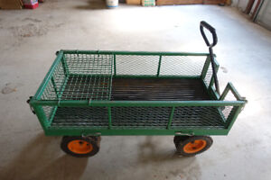 Lawn Cart with Mesh Siding