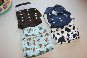 Lot of one-size pocket / all-in-one cloth diapers