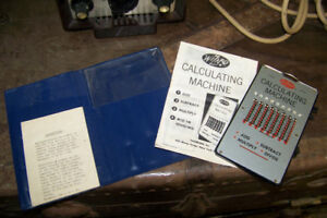1950s Wizard Mechanical Calculating Machine