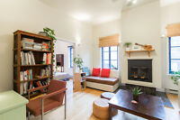 SUNNY, SPACIOUS, FURNISHED 2BR in village-downtown