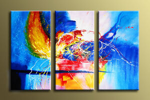 Framed Hand-Painted Modern Oil Painting