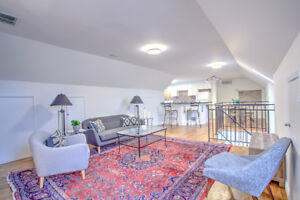Furnished impeccably clean penthouse loft