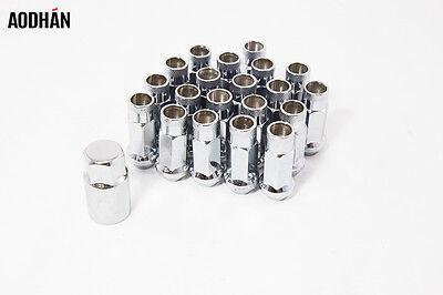 Set Of 20Pc W//Key 35mm Aodhan Spl35 12X1.25mm Neo Chrome Spline Acorn Lug Nuts