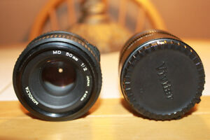 Minolta MD 50mm Lens with a 3X5 Tele Converter