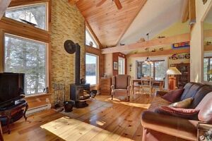 Lakeside chalet St Sauveur area. All seasons.