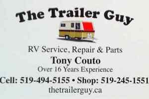 THE TRAILER GUY-RV-SERVICE-REPAIRS-PARTS--CALL TONY 519-494-5155