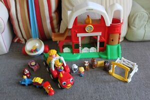 Fisher Price Little People Farm, Tractor, and Vehicle Toys