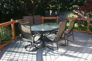 Outdoor Dining set by Lloyd Flanders plus more