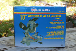 "KING CANADA 10"" Compound Mitre Saw with Laser Guide"