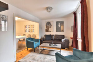 Atwater market, fully furnished, luxe 3 BR, Lionel Groulx metro