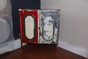 Beautiful vintage / antique steel Cabinet from Europ
