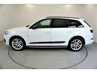 2019 WHITE AUDI Q7 3.0 TDI 218 QUATTRO S LINE DIESEL AUTO CAR FINANCE FR £611PCM