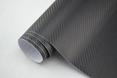 5,03€/m² Carbon Folie 3D Struktur schwarz 300 x 152  cm  Klebefolie matt {CBS300