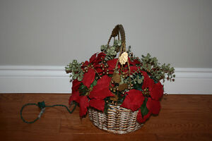 R.. Christmas Basket Arrangement  NEW PRICE