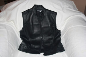 Ladies Large 100% leather vest
