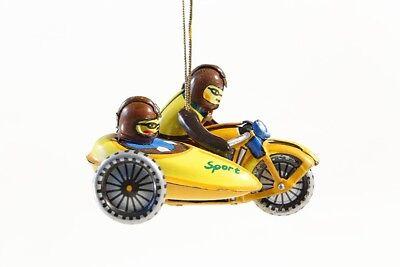 + Blechspielzeug  MINI MOTORRAD mit BEIWAGEN  Tin Toy Motorcycle