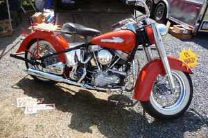 WANTED PRE 1977 HARLEY FLH  OR CIRCA 1989 EVO TOURING