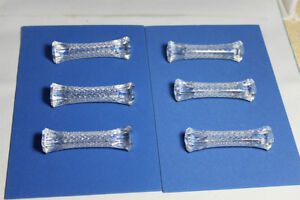 Set of 6 Knife Rests Brilliant Cut Clear Crystal excellent cond Kingston Kingston Area image 1