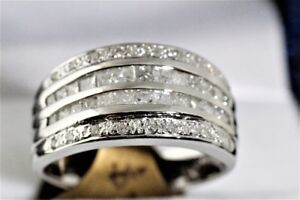 NEW WITH GEMOLOGIST APPRAISAL 14K.& 0.80 CARAT BAND FOR SALE