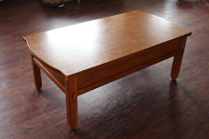 Broyhill Wood Coffee Table / Kneeling Desk With Large Drawers Peterborough Peterborough Area image 10