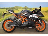 KTM RC125 **ABS, Paddock Bobbins, New Tyres**