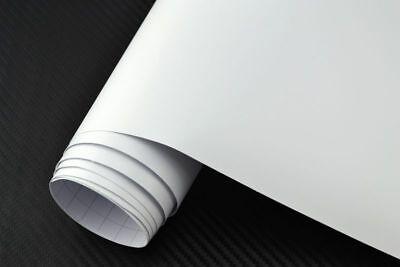 6,25€/m² Auto Folie Weiss Matt 100 x 152 cm 3D Klebefolie Car Wrapping
