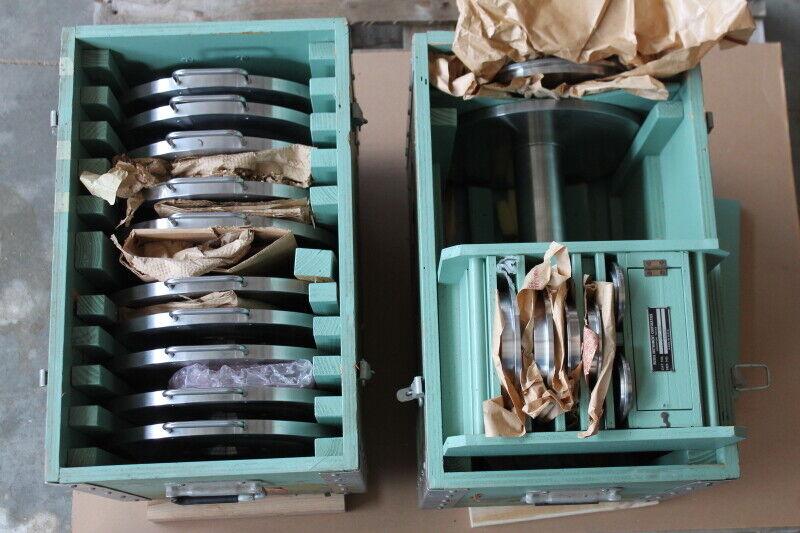 Dead weight set, 2402-700, Weights 1 through 14, 16 through 24 Ruska Instrument