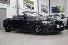 "BMW 325 i M Sport Convertible, 57 Reg, 73k, Black, Sat Nav, 19"" CSL's Etc..."