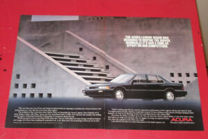 BLACK 1990 ACURA LEGEND 4 DOOR SEDAN RETRO AD - ANONCE AUTO
