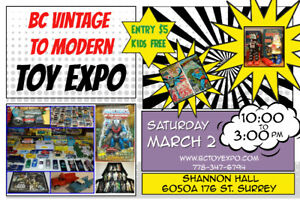 BC Vintage to Modern Toy Expo March 2nd