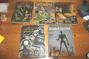 "Vintage Set of 5 ""Astounding Science Fiction"" from the 1940s"