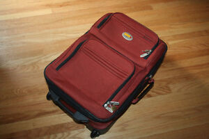Via Rail Carry on luggage in burnt orange purchased at the Bay Kitchener / Waterloo Kitchener Area image 7