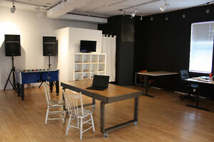 Open concept co-working space in Walkerville