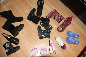 Toddler leather boots, shoes, slippers etc. Like New!