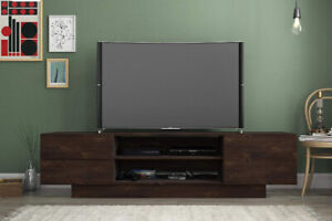 """New TV Stand for up to 80"""" TV screen, Dark Brown"""