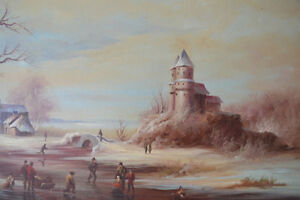 VINTAGE ORIGINAL OIL ON CANVAS LARGE PAINTING 42 X 31 inches Gatineau Ottawa / Gatineau Area image 5