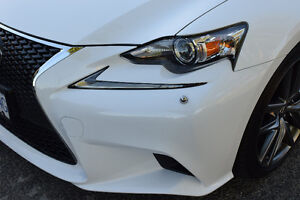 2015 Lexus IS350 FSPORT Sedan White on Red!