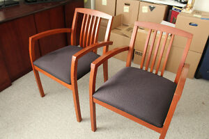 Pair of Beautiful Cherry Wood Chairs