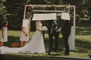 Rustic Wedding Arch -old front door system