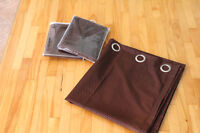 3 Beautiful brown curtains 40 by 84.100% Polyester.New!!