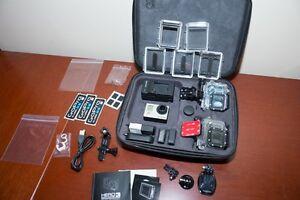 Huge GoPro Hero3 black edition package, 4 batteries, cases, etc