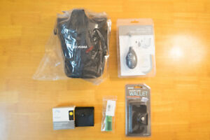 Camera accessory (bag, cleaning kit, filters, SD card wallet)